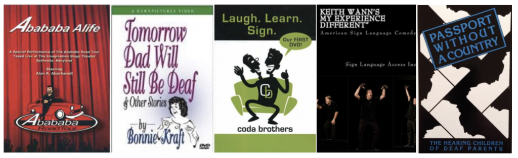 DVD and video covers for each of the texts listed arranged in alphabetical order.