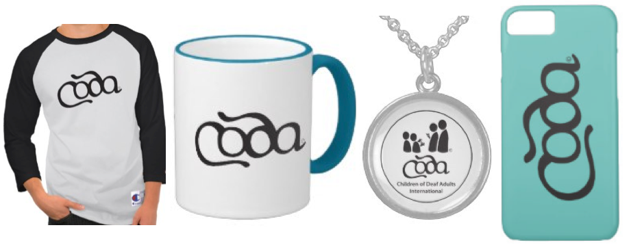 """[Image description: A banner image featuring four images of different pieces of coda items. The first image contains a white shirt with black sleeves and the word """"Coda"""" in black lettering.The second image is a white mug with a blue handle and blue rim and the word """"Coda"""" in black lettering. The third image contains a silver medallion with the Coda International logo in the center. The last pane is a light blue phone case with the word """"Coda"""" in black lettering. ]"""